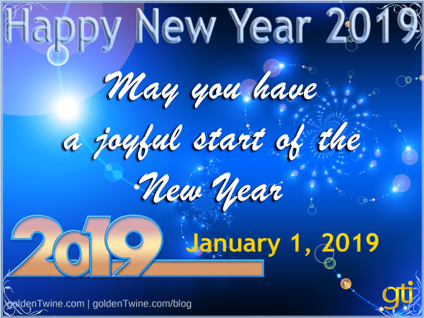 Happy and Prosperous New Year 2019