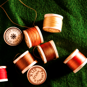 Silk thread for whipping rods