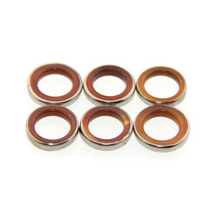 reddish brown large agate rings