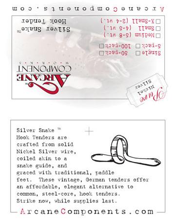 Silver Snake Hang Tag