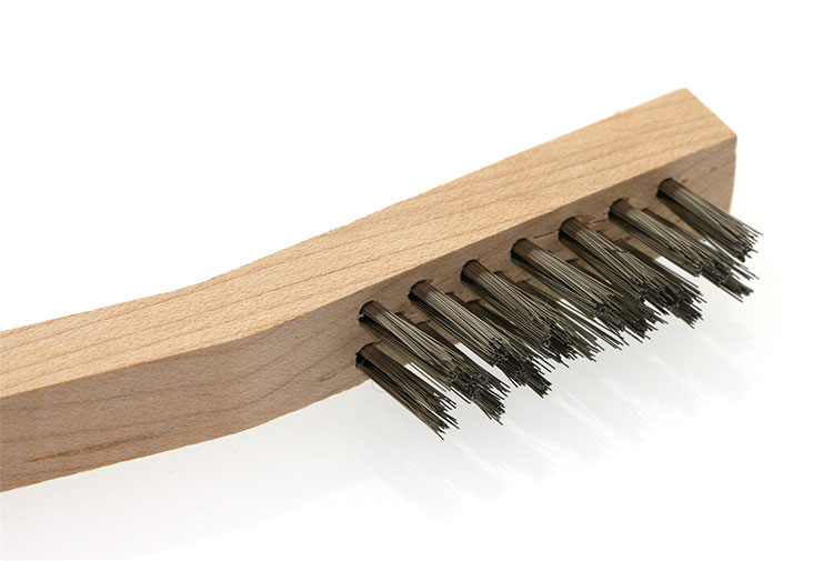 Stainless steel brush file card