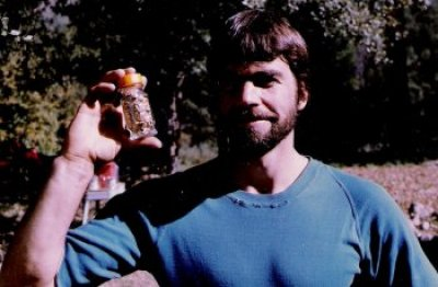 Dave with bottle of gold