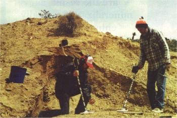 Metal detecting in the desert