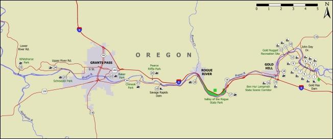 Rogue river access map