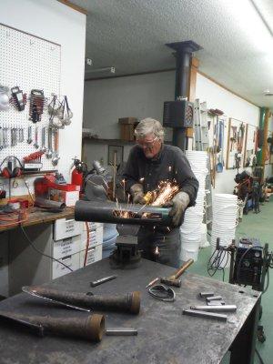 Gary in fabrication shop