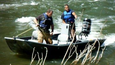 Dave & Steve in boat