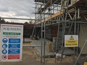 image - The new extension foundations through the safety fencing