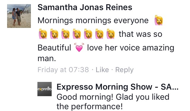 #ThisIsMyFire Samantha #ExpressoShow
