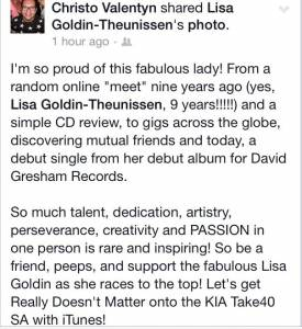 #ReallyDoesntMatter Lisa Goldin, David Gresham Records Release 26/01/2015