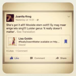 GoldinDivas GoldinFan Juanita Krog #Carousel