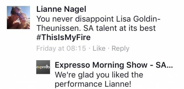 #ThisIsMyFire Lianne #ExpressoShow