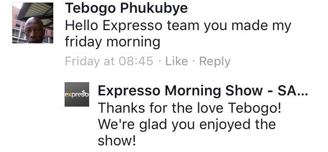 #ThisIsMyFire Tebogo #ExpressoShow