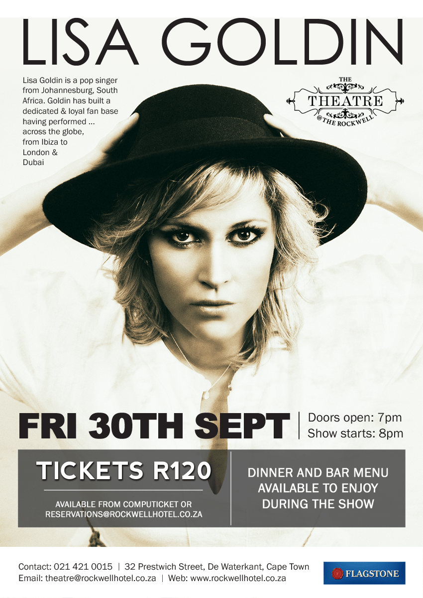 Lisa Goldin Live at Rockwell Theatre, Cape Town
