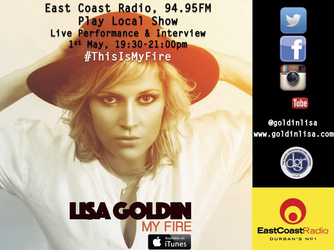 East Coast Radio Show, 1st May - Lisa Goldin
