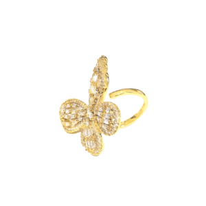 Large Butterfly Ring, butterfly ring displayed on model