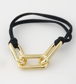 Gold Hair Tie Bracelet Large