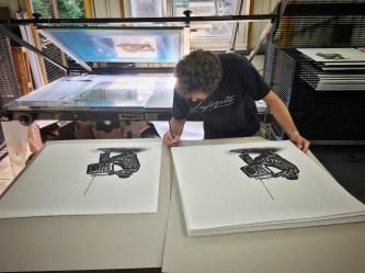 Nick Walker in the studio