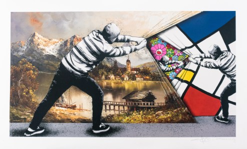 'Behind the Curtain' - Martin Whatson + Pez , Archival pigment print - Produced for Graffiti Prints, 2018
