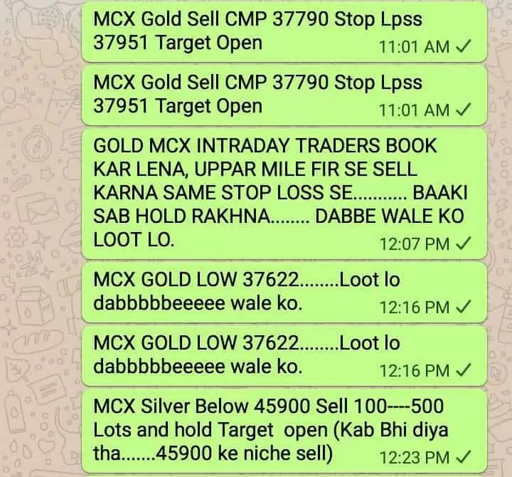 MCX Gold Sell Rocking- 37790 To Low 37565 – Loot Lo Dabbe Wale Ko – Neal Bhai via @goldsilverrepor
