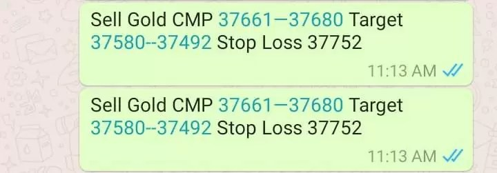 MCX Gold Day Trading Tips