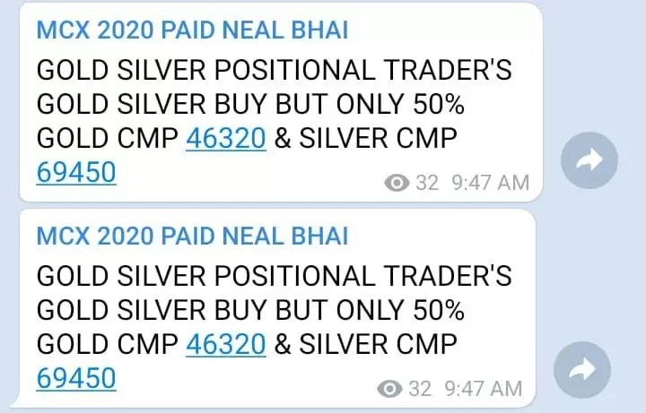 Gold Silver MCX Tips Today