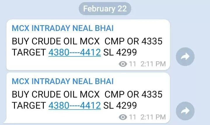 Crude Oil MCX Tips Today Hit All Target 4457 – Neal Bhai via @goldsilverrepor