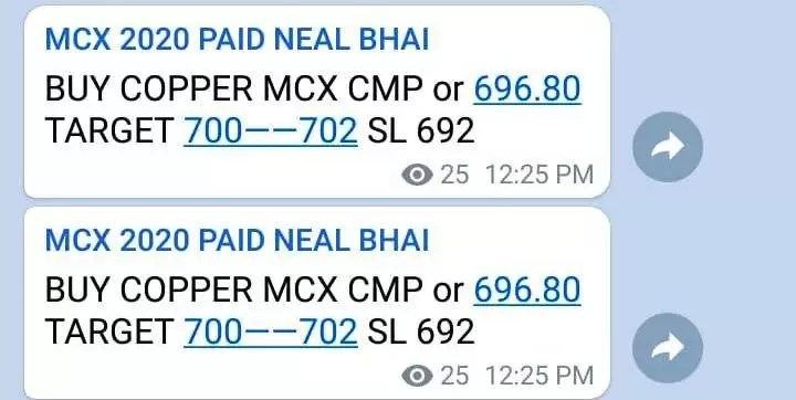 Copper MCX Tips Today : All Target Price Hit High 704.20 via @goldsilverrepor