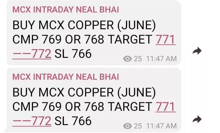 MCX Copper Tips Today