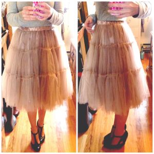 Chicwish tulle skirt caramel / Gold Standard Workshop