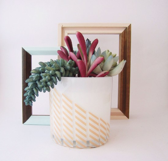 Washi Tape Plant Pot