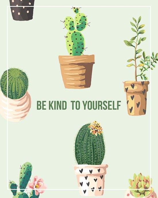 be kind to yourself free printable