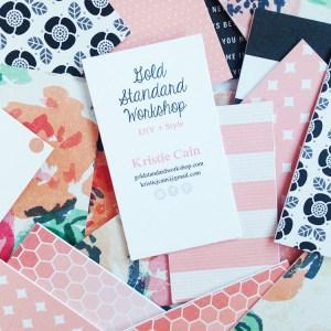 Gold Standard Workshop / DIY Business Cards