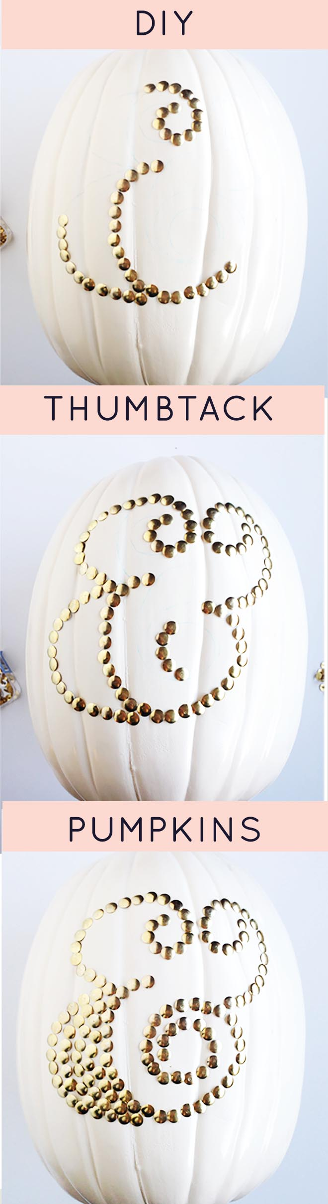 Thumbtack Pumpkins! Perfect for your Thanksgiving table.