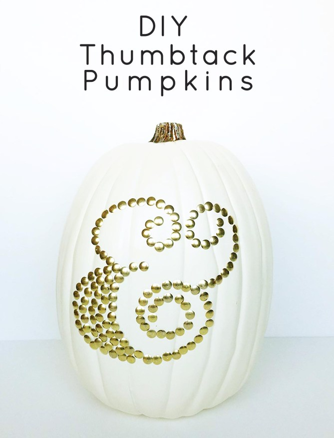 Thumbtack Pumpkins--great for a Thanksgiving centerpiece! From Gold Standard Workshop