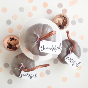 DIY Copper Pumpkin Place Cards - Gold Standard Workshop