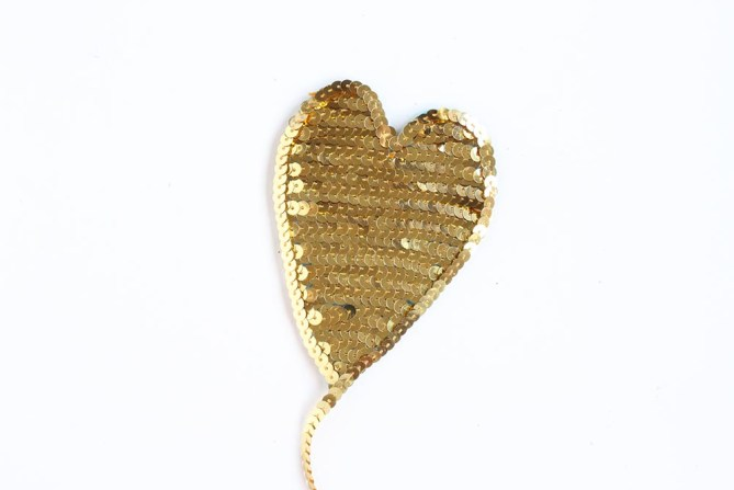 DIY Sequin Heart Patches by Gold Standard Workshop