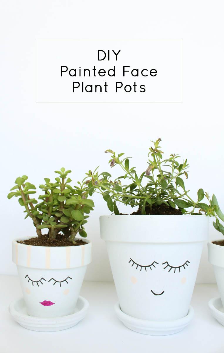Charming Face Plant Pot Part - 10: DIY Painted Face Plant Pots By Gold Standard Workshop