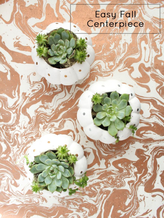 DIY Fall Copper Centerpiece by Gold Standard Workshop
