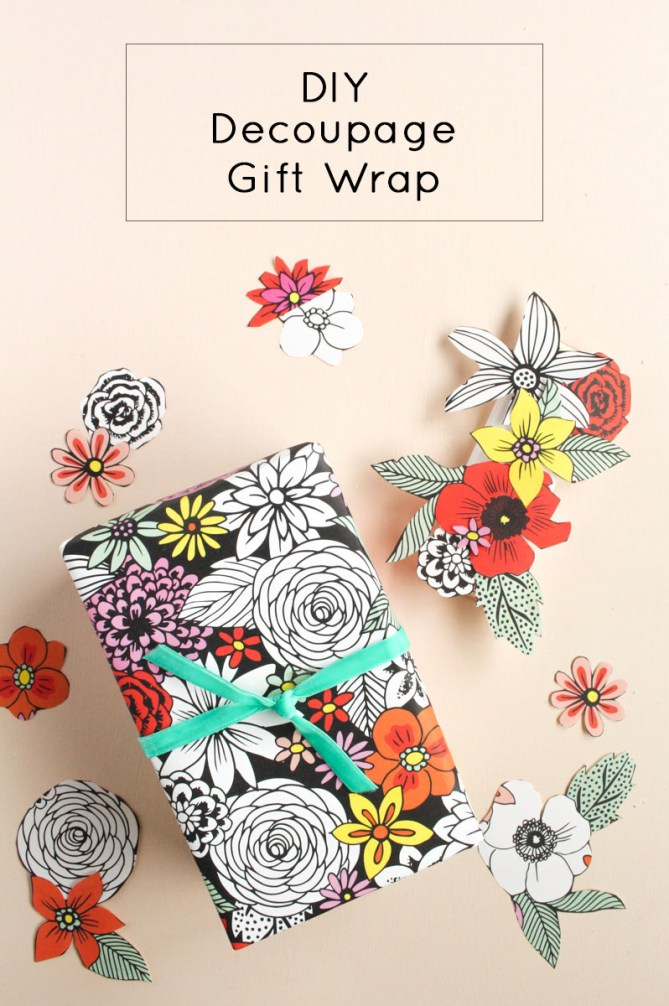 DIY Decoupage Gift Wrap by Gold Standard Workshop