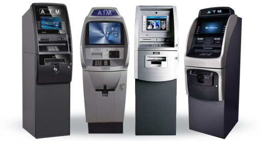 assortment of ATM machines