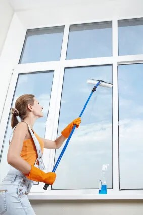 A squeegee is your best friend when it comes to washing windows (istockphoto)