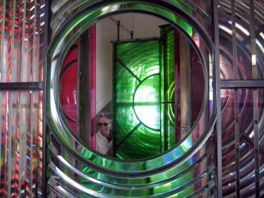 Lighthouse lens, Dungeness, Kent