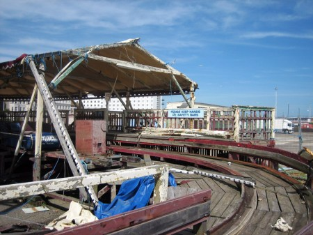 Dilapidated rollor coaster, Folkstone, Kent