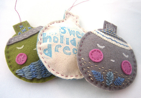 embroidered-felt-ornament-group