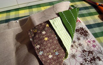 Needle case fabric sandwich