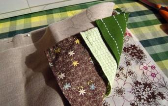 Needle case fabric sandwich