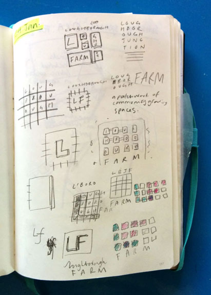 Sketches for Loughborough Farm logo
