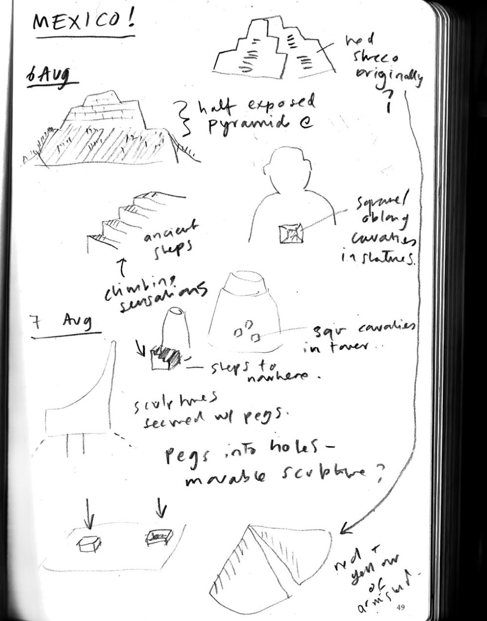 Notebook sketches from Mexico - 7 Aug