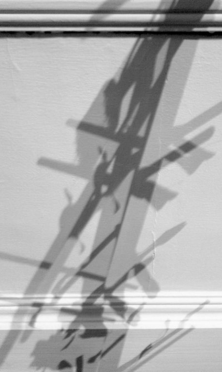 Shadow cast by my work, 'Sweep Well'