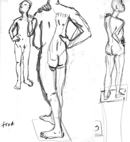 Initial sketches of Fred
